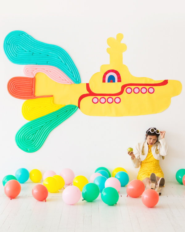 Giant Yellow Submarine Backdrop | Oh Happy Day!