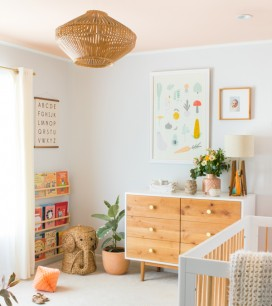 Pink Ceiling Makeover | Oh Happy Day!