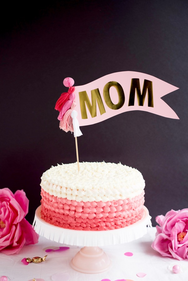 oversize mom cake topper diy. Black Bedroom Furniture Sets. Home Design Ideas