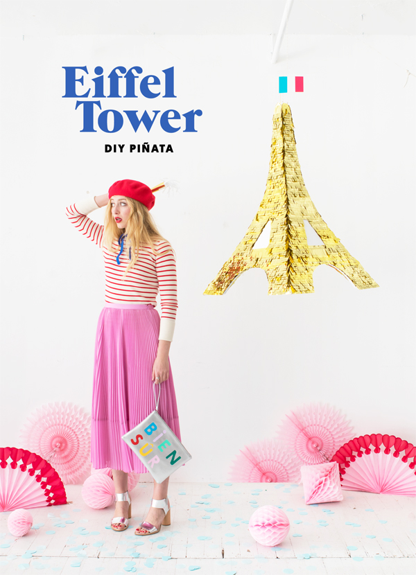 DIY Eiffel Tower Pinata | Oh Happy Day!