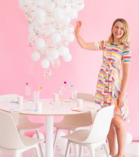 DIY Confetti Balloon Chandelier | Oh Happy Day!