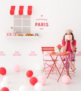 Parisian Cafe Wall | Oh Happy Day!