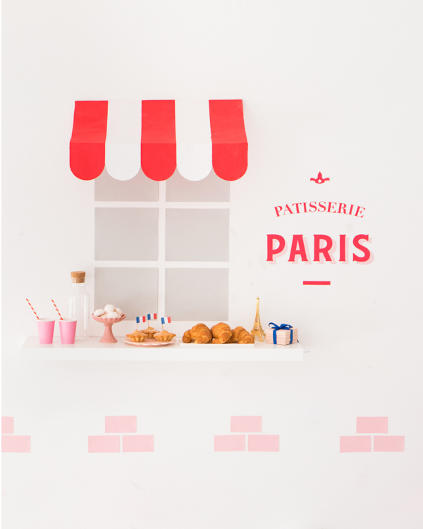 Parisian Cafe Wall | Oh Happy Day!