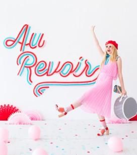 Au Revoir Balloon Backdrop | Oh Happy Day!