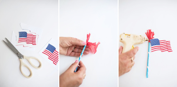 American Flag Pixie Stick Treats DIY | Oh Happy Day!