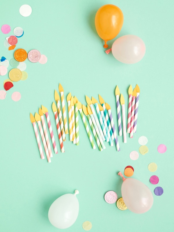 Birthday Candle Cupcake Toppers DIY | Oh Happy Day!
