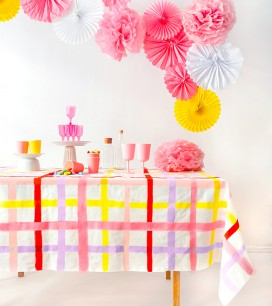 Gingham Tablecloth DIY| Oh Happy Day