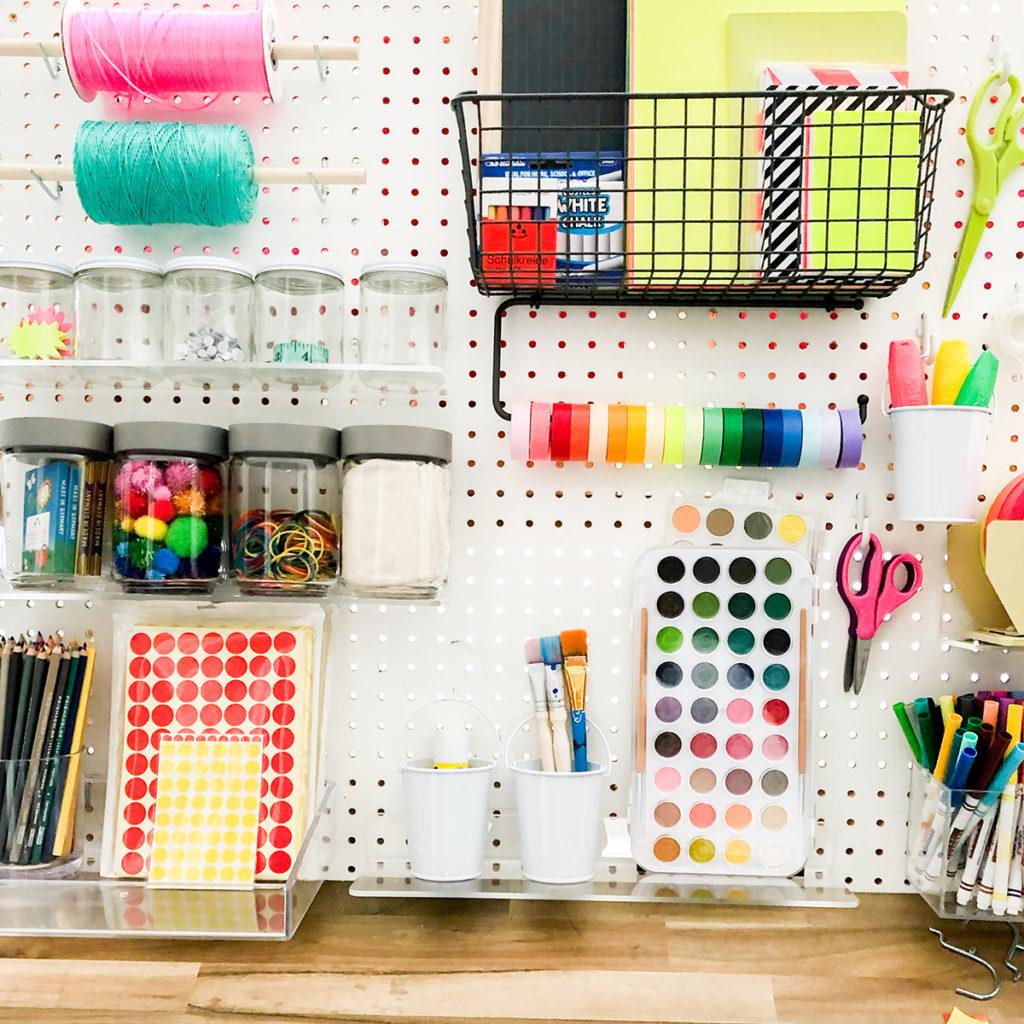 Pegboard Arts + Crafts