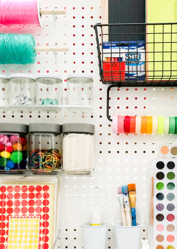 Pegboard Art Supply Station | Oh Happy Day