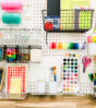 Pegboard Art Supply Station| Oh Happy Day